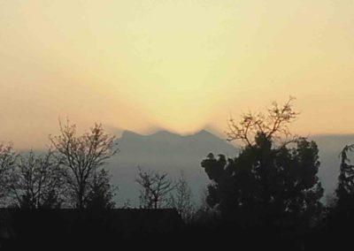 Le synclinal de Sâou dans la brume