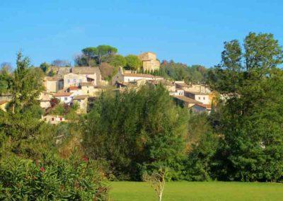 Eurre, village perché sur une colline dans la Drôme